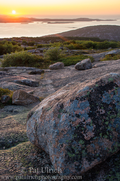 First light on Cadillac Mountain in Acadia National Park