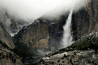 Upper Yosemite Fall in Fog