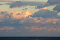 Clouds at sunset over the Atlantic Ocean