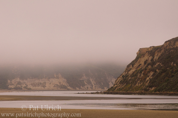 Photograph of a foggy morning in the estuary at Point Reyes National Seashore