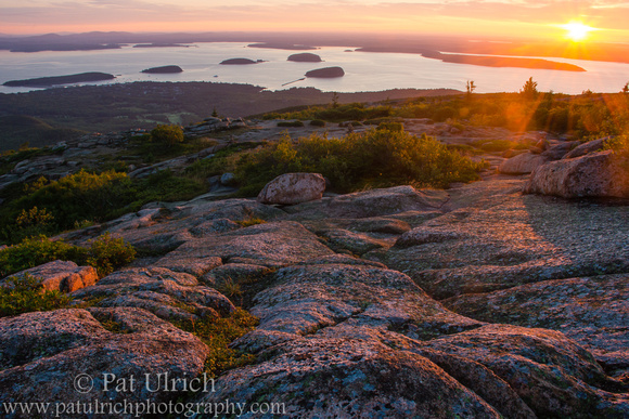 Sunrise from the summit of Mount Cadillac in Acadia National Park