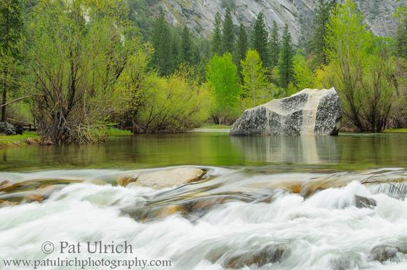 Spring flows in Tenaya Creek in Yosemite National Park